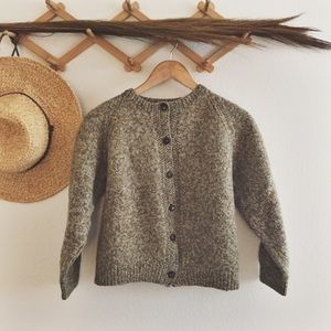 Vintage button front box sweater